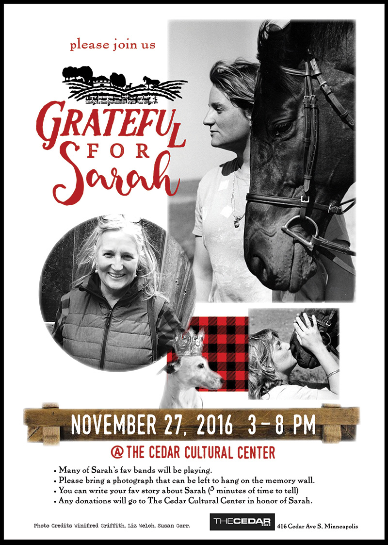 Grateful for Sarah Poster by Kelli May-Krenz